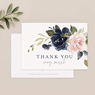 Pretty Bridal Shower Thank You Baby Shower Luncheon Thanks Floral Thank You Cards Bride Wedding Set of 10 Floral Formal Birthday Tea