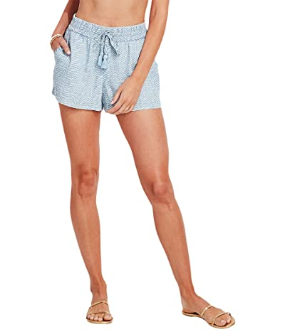 Vineyard Vines Printed Chambray Pull-On Shorts (Chevron/Jake Blue) Women