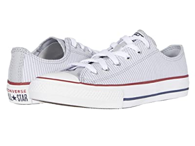 Converse Kids Chuck Taylor(r) All Star(r) Pinstripe (Little Kid/Big Kid) (Wolf Grey/Garnet/White) Kid