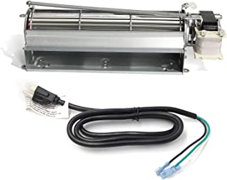 Hongso New FK12 Replacement Fireplace Blower Fan Kit for Majestic, Vermont Castings, Monessen, Temco, Rotom HB-RB12, GFK4, FK12, FK24 Replacement Fireplace Blower Fan with 3-Prong Power Cord
