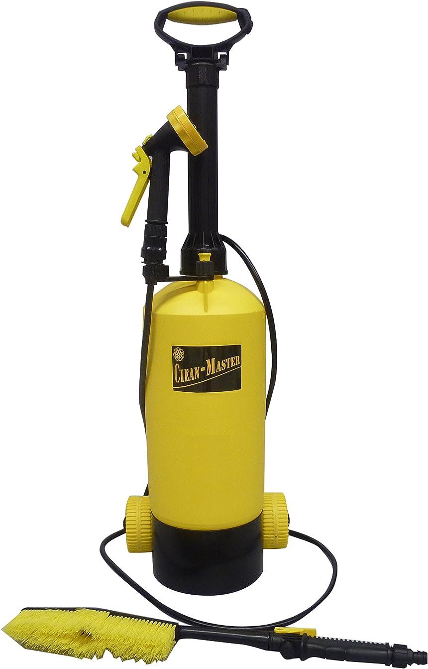囲む継承やけどマルハチ産業 キャスター付き お掃除用 ポンプ式 水圧クリーナー CLEAN - MASTER 8L