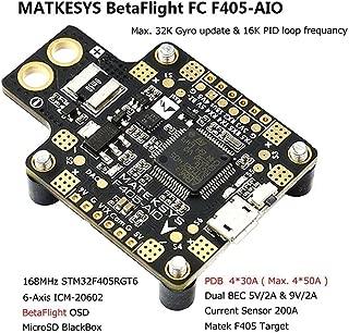 Matek AIO F4 FC Flight Controller + PDB + Bateflight OSD + BEC for FPV Racing RC Drone Quadcopter
