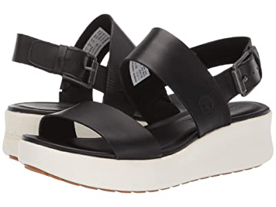 Timberland Los Angeles Wind 2-Bands Sandal (Black Full Grain) Women