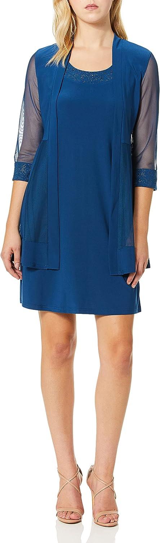 R&M Richards Women's Glitter Trim Jacket Dress