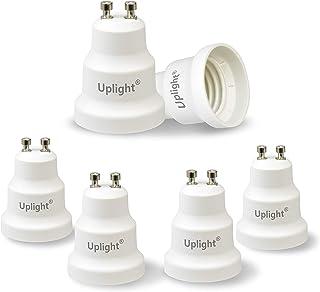 Uplight Adaptador GU10 a E27,Conversor Bombilla GU10 a E27,GU10 Socket Convertidor,0-250V,Potencia Máxima 200W,Paquete de 6.