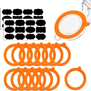Yeetra 14Pack Silicone Jar Gaskets Replacement Silicone Seals, Airtight Rubber Seals Rings for Mason Jar Regular Mouth Can...
