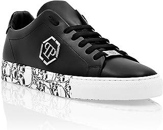 Philipp Plein Herren Lo-Top Sneakers hexagon and Skull Schwarz 42