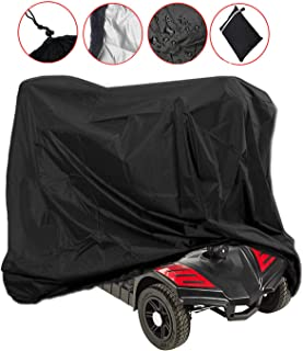 Mobility Scooter Storage Cover, Wheelchair Storage Cover Waterproof Lightweight Rain Protector from Dust Dirt Snow Rain Sun Rays - 55 x 26 x 36 inch (L x W x H)