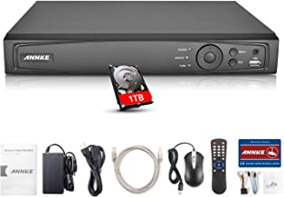 Annke 1080P 4CH NVR Network Video Recorder with 1TB Hard Drive Included- Supports up to 4 x 1080P(2MP/3MP/4MP/5MP/6MP) WiFi IP Cameras