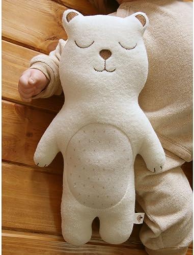 el estilo clásico (Sleeping Bear)100% Organic Cotton Baby First Doll 13.7 13.7 13.7 inches (No Dyeing Natural Organic Cotton) by JOHN N TREE Organic  gran descuento