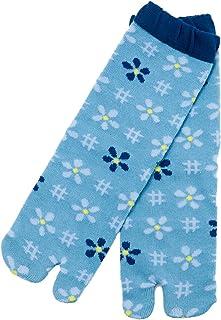 【京都くろちく】 New 文化足袋(小花絣) 和柄足袋靴下