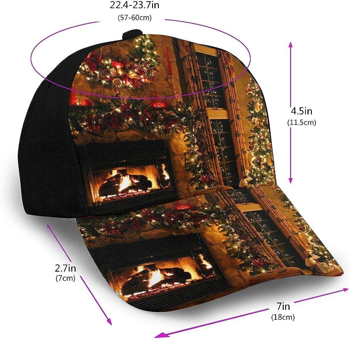 Mens Christmas Tree Decoration Adjustable Baseball Cap Funny Sandwich Trucker Adjustable Camping Hat