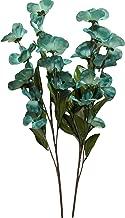 Silk Blue Green Dogwood Flower Stems, 2 Pack, 24 Inches, 12 Blooms on Each stem, Vases, Floral Arrangements
