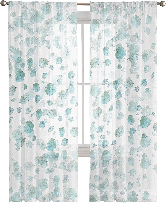 Kitchen Semi Sheer Window Curtain Panels Max 60% Save money OFF Elegant Inches 108 Long