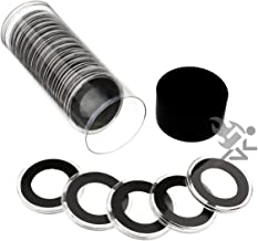 Black Lid Capsule Tube & 20 Air-Tite 26mm Black Ring Coin Holders for US Presidential Dollars