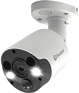 Swann SWPRO-4KMSFB-AU 4K Thermal Sensing Spotlight Bullet Security Camera, 1 Count (Pack of 1)