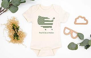 FLAG PRINT BODYSUIT, Patriotic Bodysuit, Baby Body Suit, New Baby Gift, Cute Baby Stuff, Organic Cotton Shirt, Printed Long Sleeve