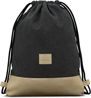 Drawstring Bag Anthracite/Gold Gymsack Gym Sack Men & Women