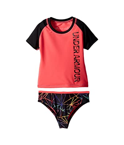 Under Armour Kids Polyprism Rashguard Set (Toddler) (Penta Pink) Girl