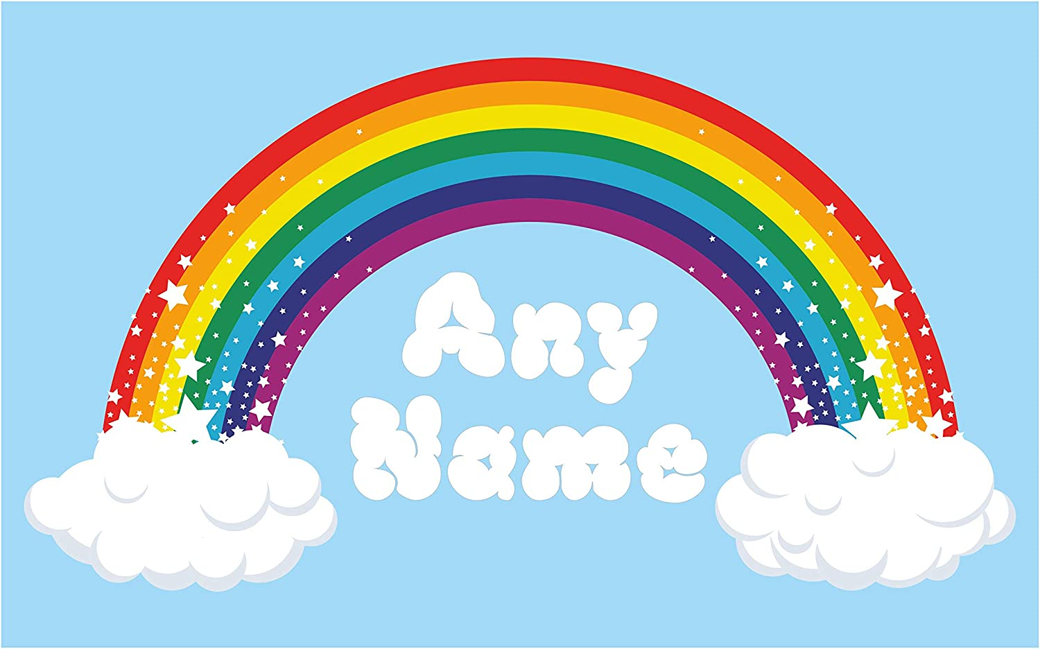 Amazon Com Thorpe Signs Personalized Rainbow Wall Art Choose Any Name Vinyl Sticker 3 Sizes Full Color Decal Large 100cm X 54cm Home Kitchen