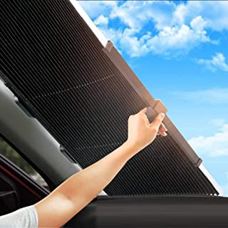 Automático, telescópico, plegable, parasol, protector solar, aislamiento, engranaje delantero, coche, visera para la mayoría de los camiones de automóviles, SUV, protección UV, ventanas delanteras