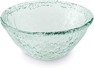 Mud Pie 46000072 Recycled Spanish Glass Serving Bowl, One Size, Blue