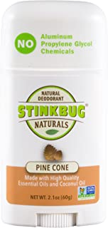 Natural Organic Deodorant Stick Pine Cone Scent, Made with Coconut Oil and Essential Oils, Aluminum Free Deodorant by Stinkbug Naturals, 2.1 Ounce