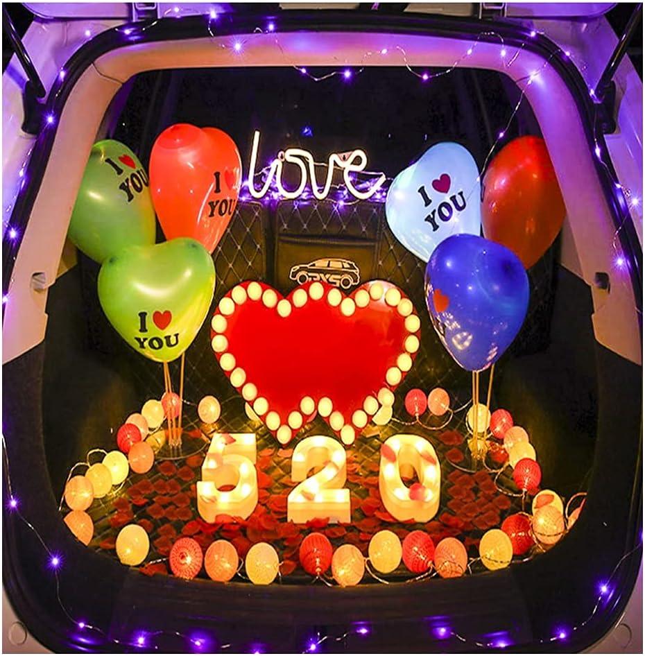 ASKLKD Car Trunk Proposal Arrangement Romantic Confession 520 Cr