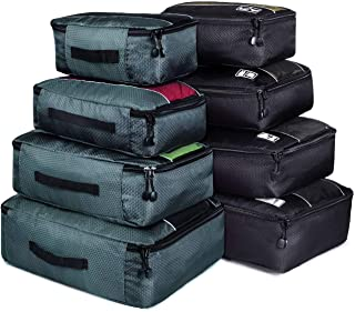 Packing Cubes, Idesort Travel Luggage Organizer Mixed Color Set(Grey/Black)