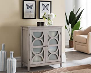 Kings Brand Furniture - Folsom Wood Console Table/Accent Cabinet, Wash Gray