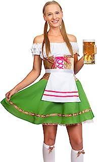 Skeleteen Oktoberfest Beer Girl Costumes - German Bavarian Traditional Womens Oktober Fest Dirndl Dress