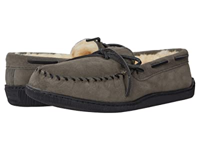 Minnetonka Sheepskin Hardsole Moc (Grey) Men