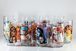 Vintage Star Wars Burger King Glasses Complete Set of 12