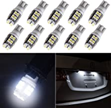 cciyu 194 Extremely Bright LED Bulbs 20-3528-SMD Light Lamp License Plate Light Lamp Wedge T10 168 2825 W5W White Pack of 10