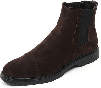 Hogan B9838 Beatles Uomo New Route Chelsea Scarpa Marrone Boot Shoe Man
