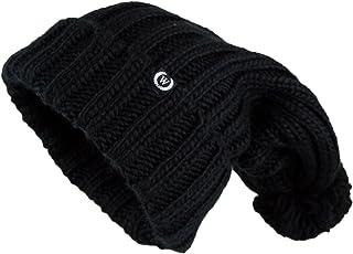 Wonderful Fashion Women's Extra Long Oversize Cable Knit Pom Pom Beanie Hat