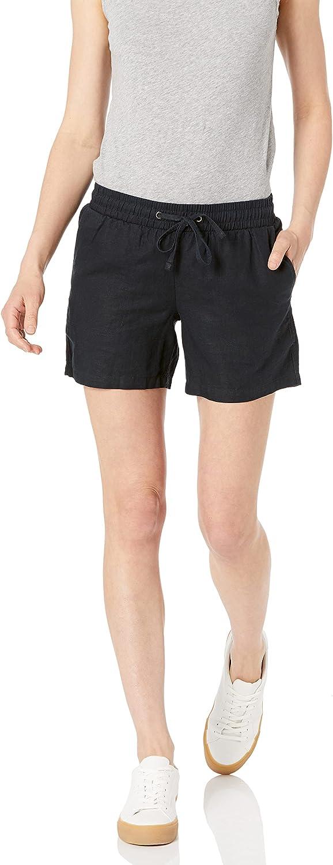 Amazon Essentials Limited price Women's Store 5 Inch Linen Drawstring Inseam S Blend