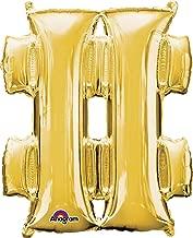 "Anagram 33004 Symbol""#"" Gold Foil Balloon 34"","