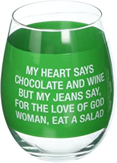 About Face Designs 187455 My Jeans Say Wine Glass, Clear