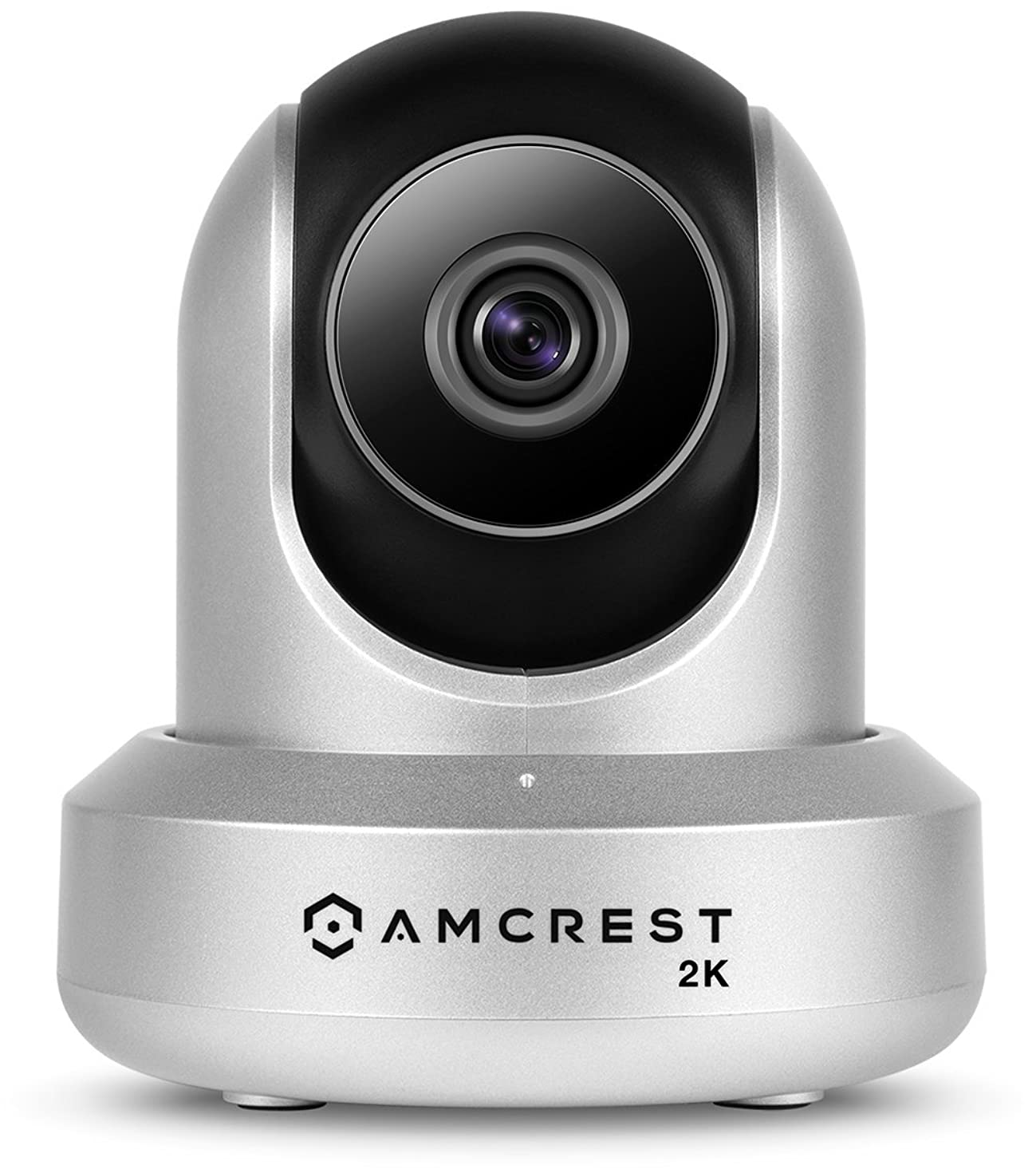 Amcrest UltraHD 2K WiFi Camera 3MP (2304TVL) Dualband 5ghz / 2.4ghz Indoor Pan/Tilt/Zoom Surveillance Wireless IP Camera, Home Video Security System w/IR Night Vision, Two-Way Talk IP3M-941 (Silver)