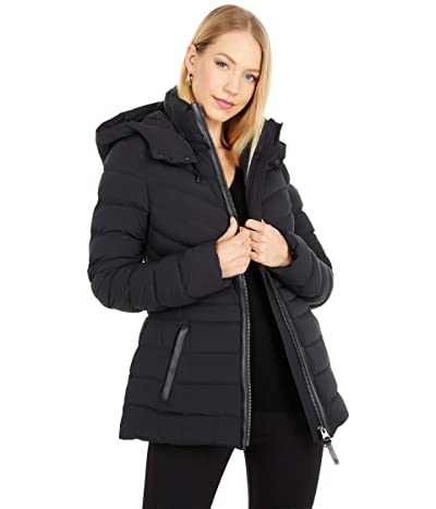 MACKAGE Patsy-NFR Stretch Lightweight Down Coat (Black) Women
