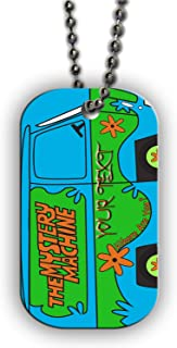 BRGiftShop Customize Your Own The Mystery Machine Van Single Sided Metal Military ID Dog Tag with Beaded Chain