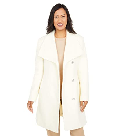Vince Camuto Belted Single Breasted Wool Coat V20772X-ZA (Off-White) Women