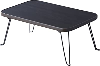 パール金属 ミニ テーブル II 4530 UV 加工 木目調 ブラック N-8273