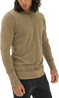 trueprodigy Casual Mens Clothes Funny and Cool Designer Sweatshirt Sweater for Men Plain Crew Neck Slim Fit Long Sleeve Sale