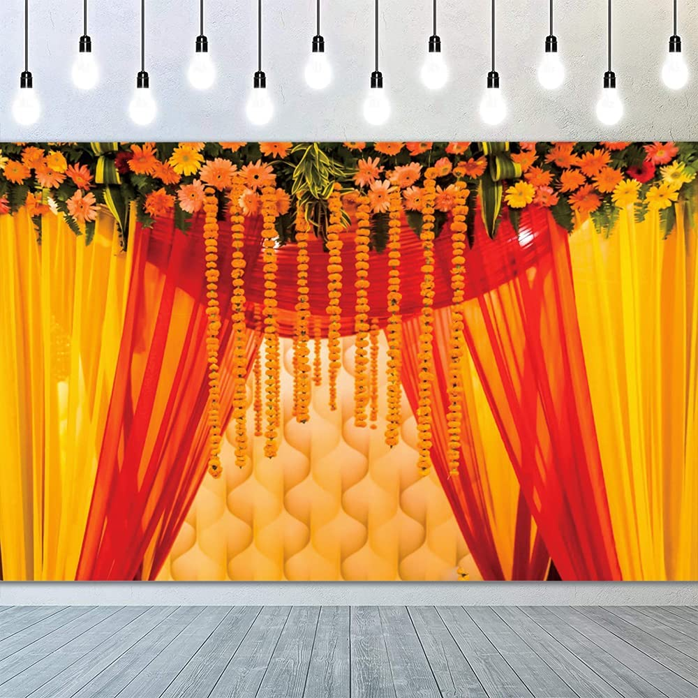 Low price YongFoto 9x6ft Indian Wedding Max 62% OFF Set Hindu Background T Photography