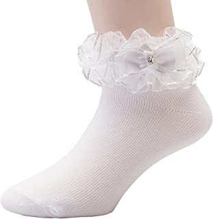 2fa3fce85 FREE Shipping on eligible orders. OLIVIA KOO Girl s Organza Multi Ruffle  Top Anklet Socks (Infant to 11 Years)
