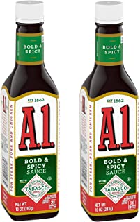 A1 Bold & Spicy Sauce with Tabasco Sauce 10 oz -- Pack of 2