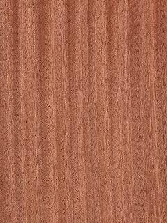 Ribbon Sapele Wood Veneer Paper Backer (2' x 4')