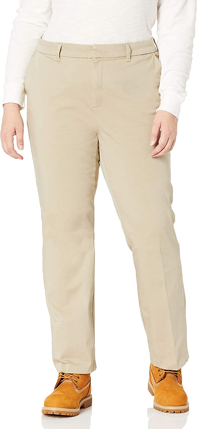 Dickies Women's Size Perfect Shape Bootcut Twill Pant-Plus